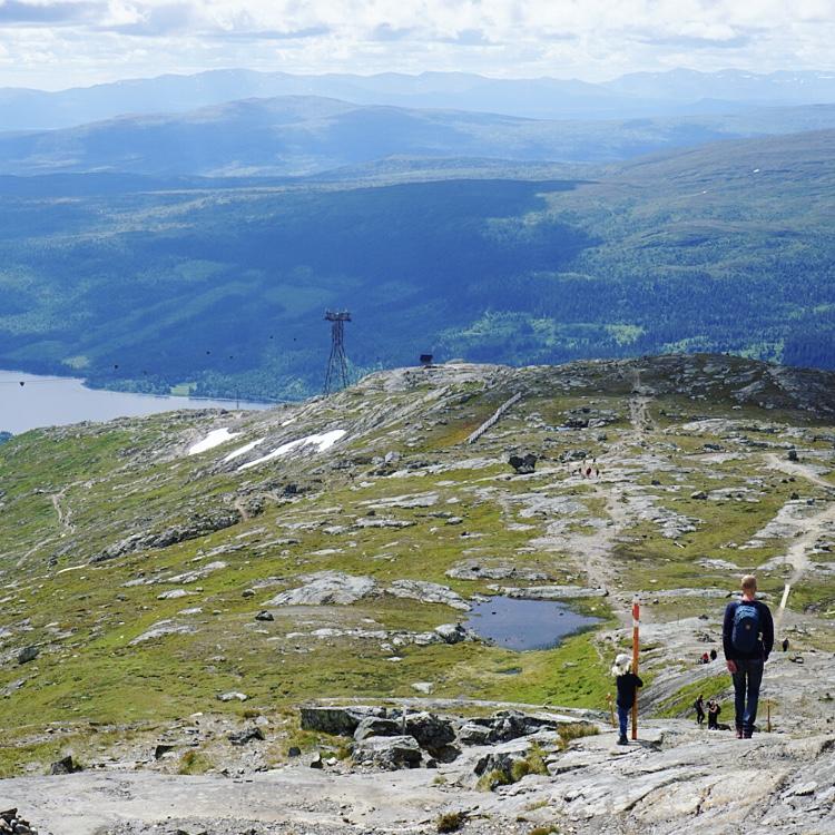 Utsikt uppifrån Åreskutan.