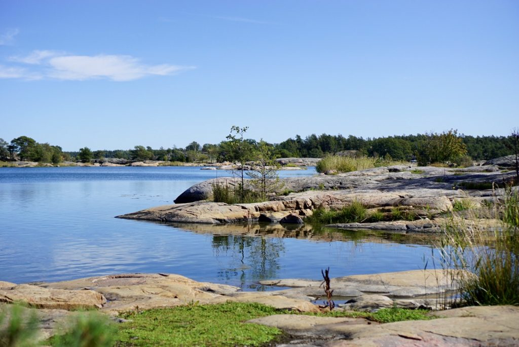 Stendörrens naturreservat, vy från Stora Krokholmen.